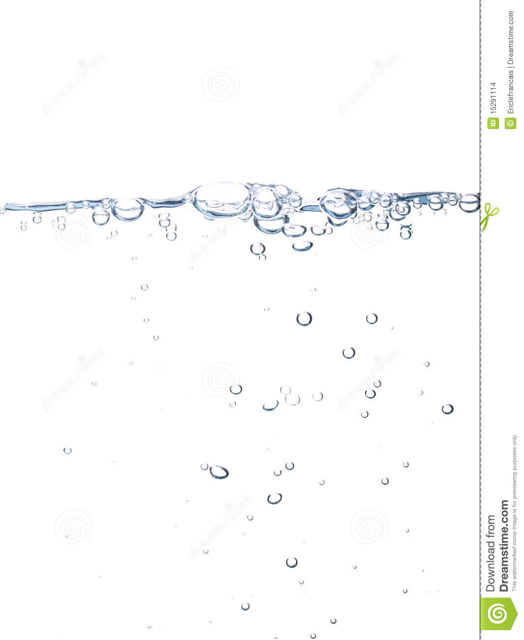 Water Line With Bubbles Stock Photo Image Of Liquid 15291114
