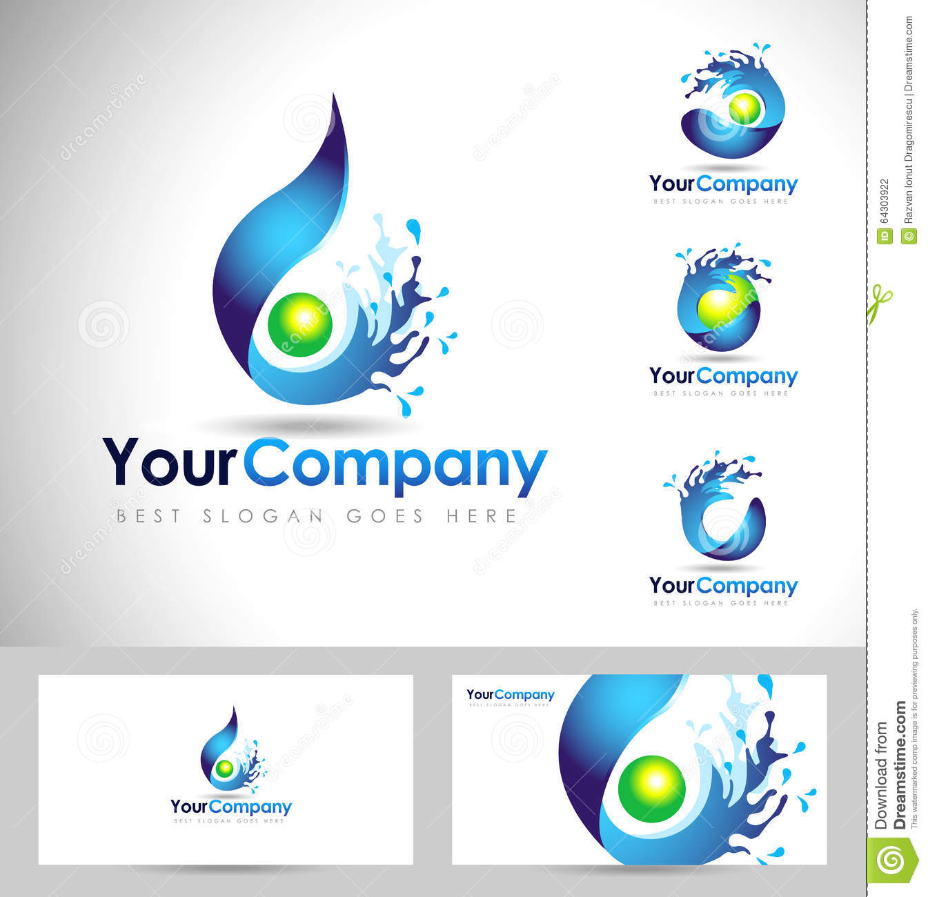 Water Logo Design Stock Vector Image 64303922