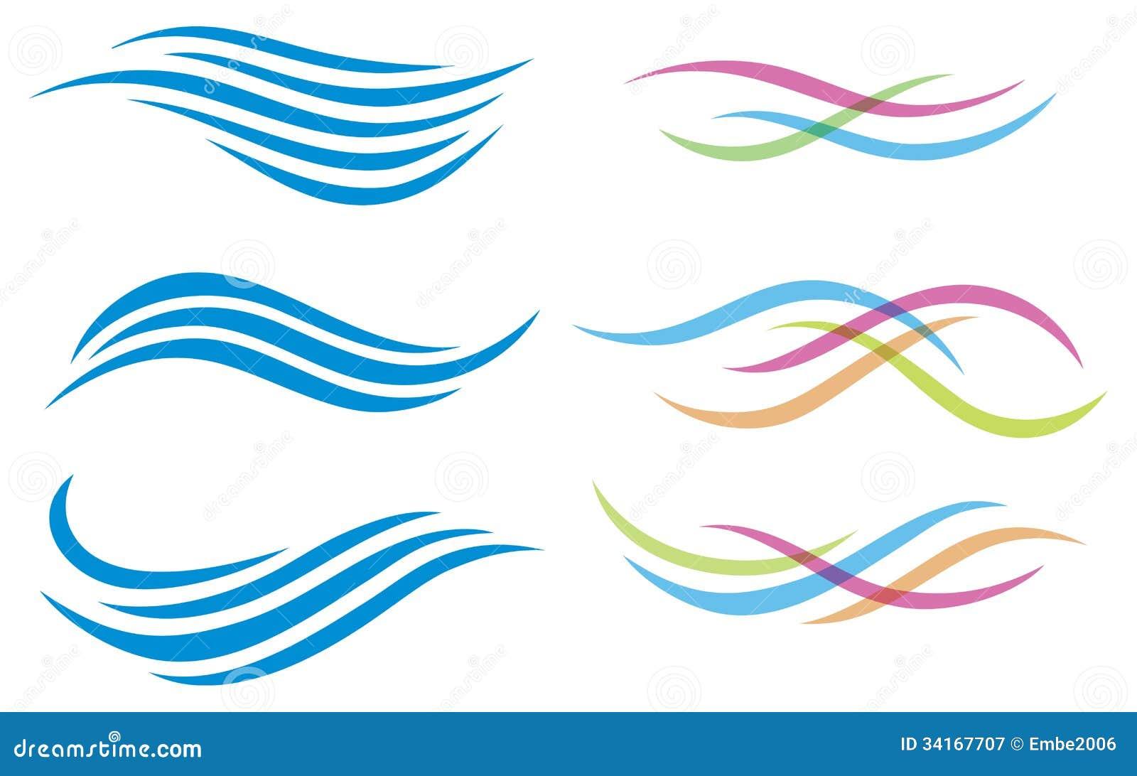 Water Logo Royalty Free Stock Photography - Image: 34167707