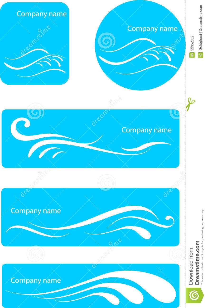 Water Logo Set Stock Vector - Image: 39352339