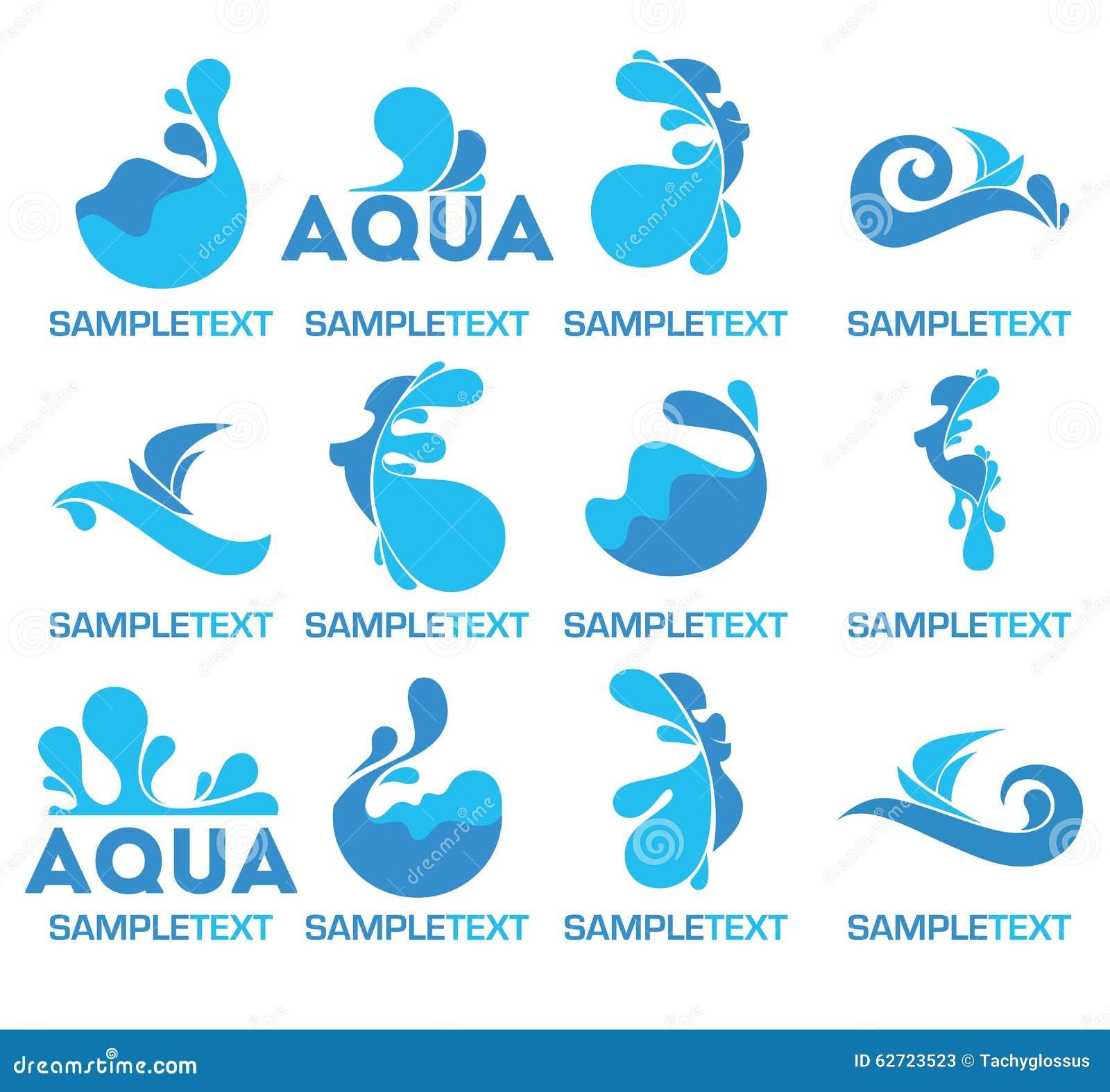 Water Logo Stock Vector Image 62723523