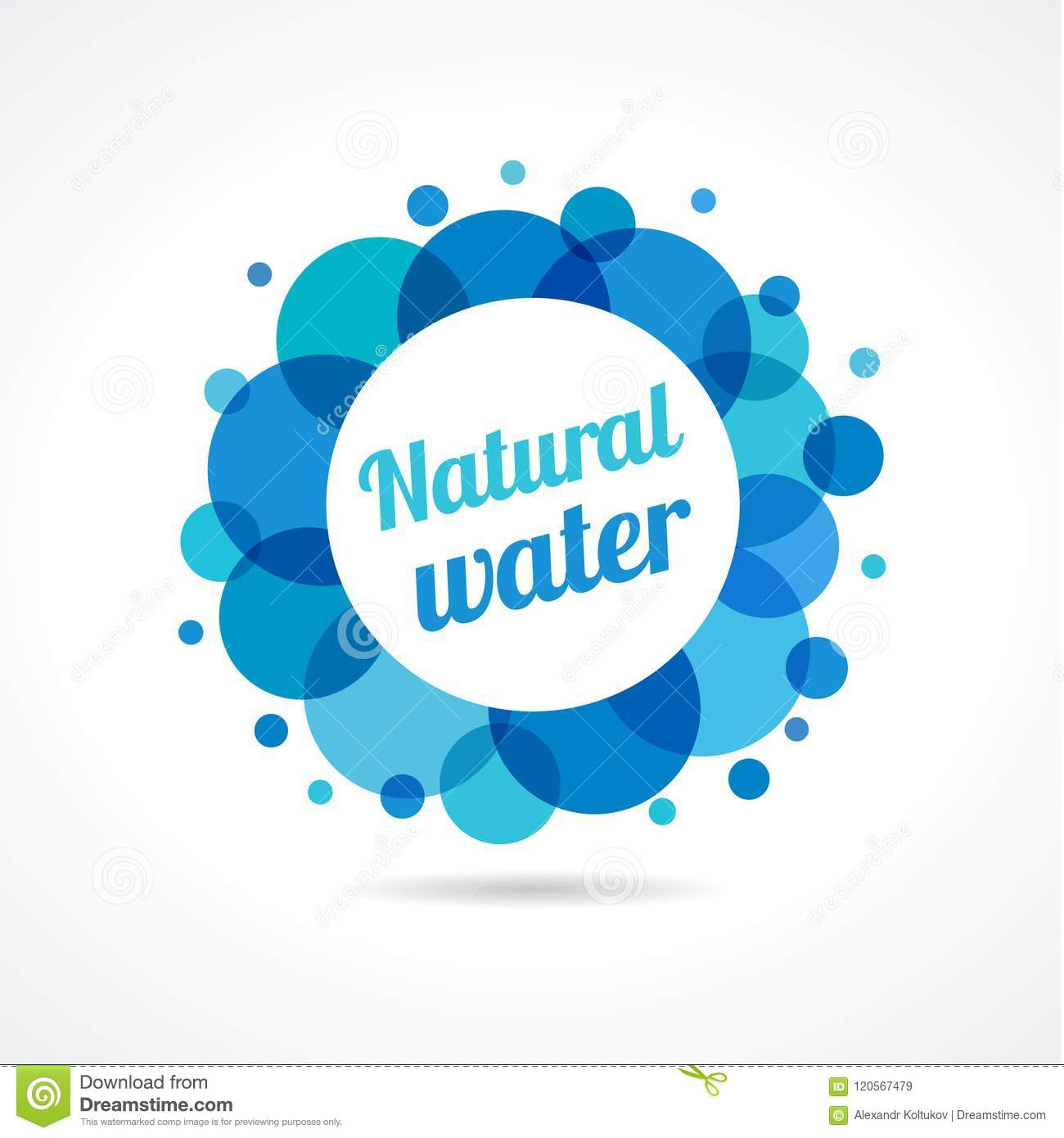 Water Logotype Label Concept Stock Vector Illustration Of