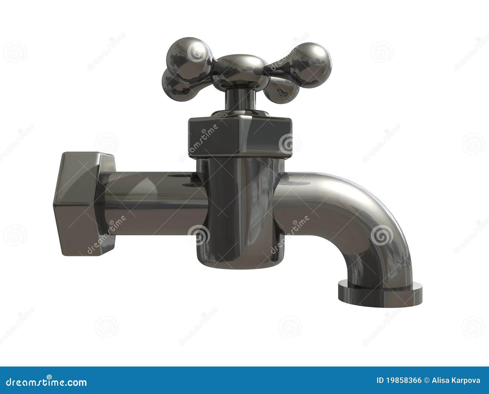 Metal Clean Water Tap Stock Image