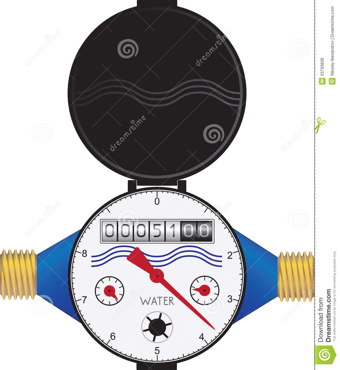 Water Meter Royalty Free Stock Photos Image 23793838