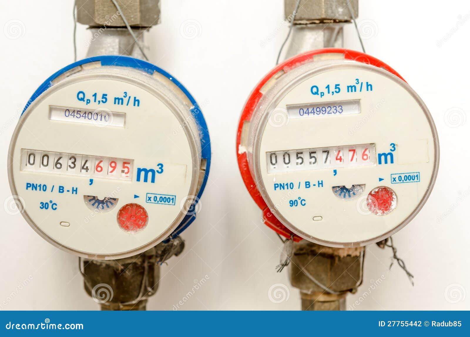 Residential water meter hook up