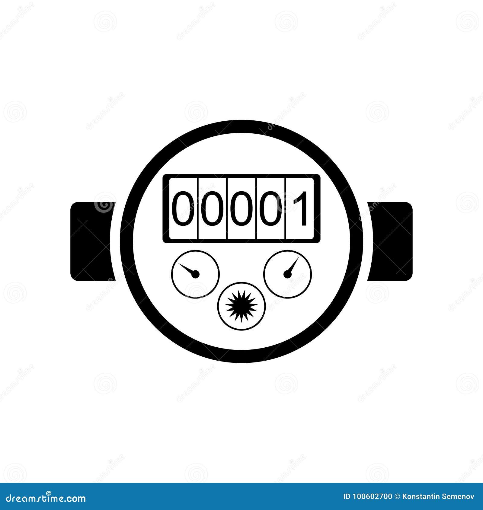 water meter icon  stock illustration  illustration of flow