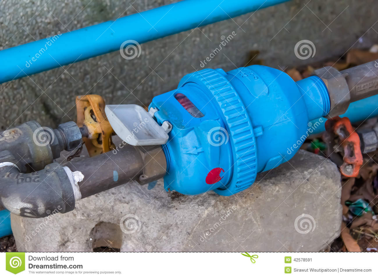 water meter pipe connection