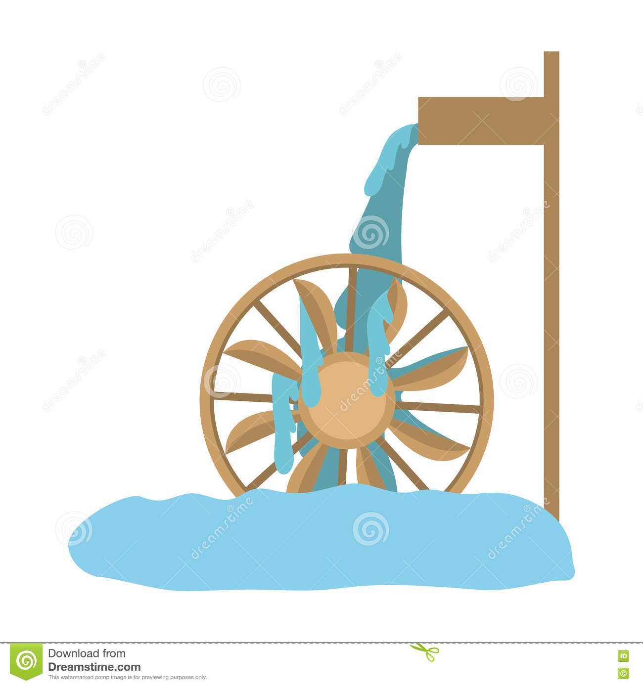 Water Wheel Clip Art : Water mill icon stock vector image of milling