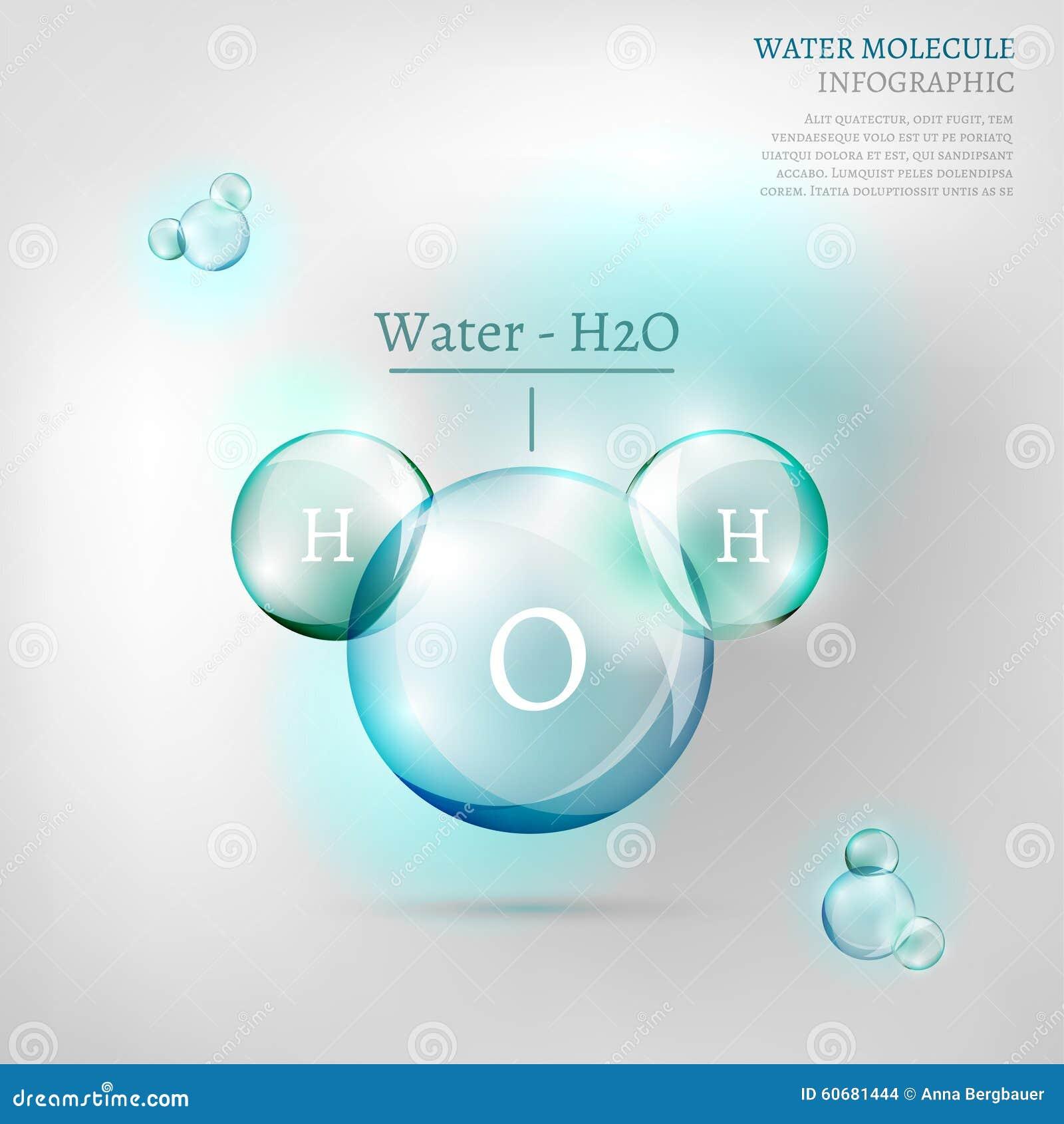 Water Molecule Stock Vector Illustration Of Bubble Background Diagram