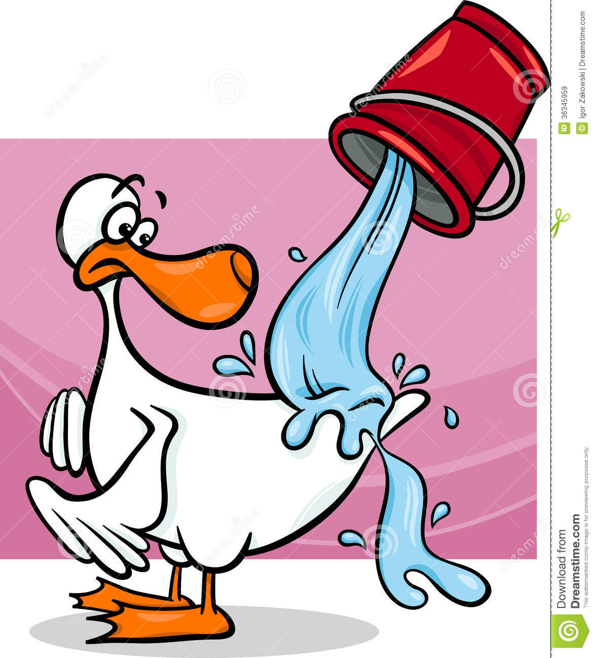 water off a ducks back cartoon royalty free stock images