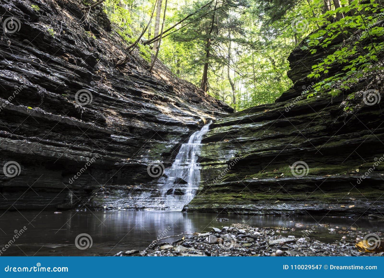 Water over rotsen