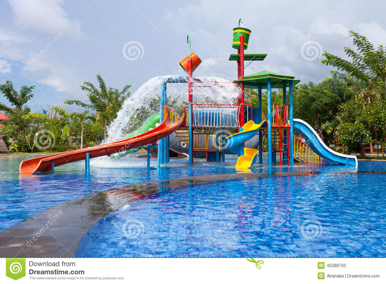 Water Park For Kid Stock Image Image Of Activity Fast