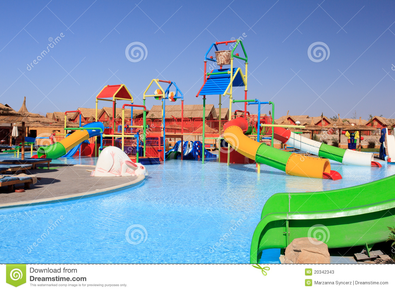 Water Park And Swimming Pool Stock Image Image 20342343