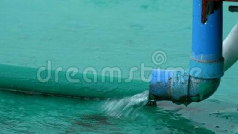 & Water Pipe During the Rain stock footage. Image of pouring - 111685070