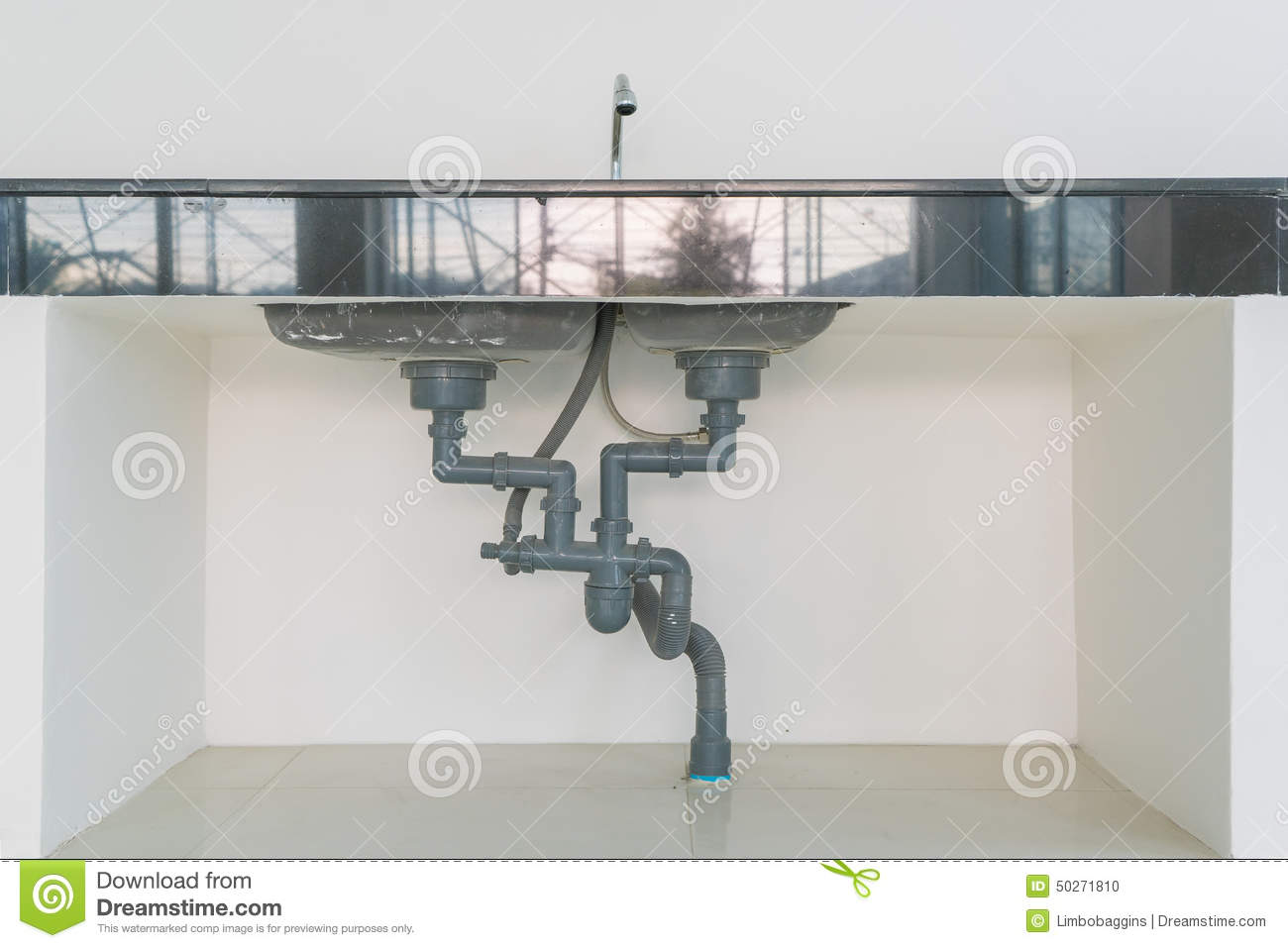 Captivating Royalty Free Stock Photo. Download Water Pipe Under Sink ...