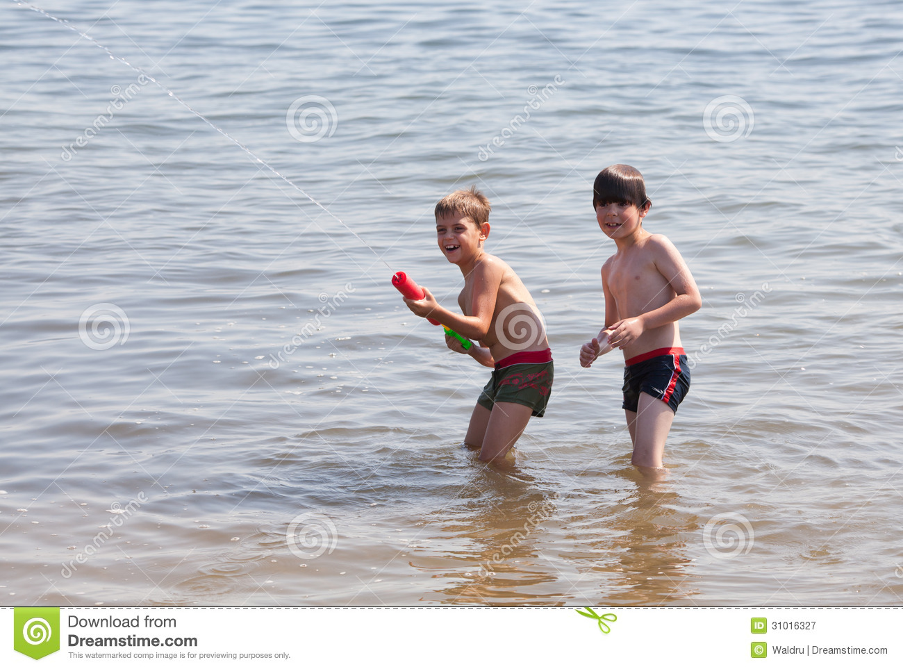 Water Pistol Action Royalty Free Stock Photography - Image ...