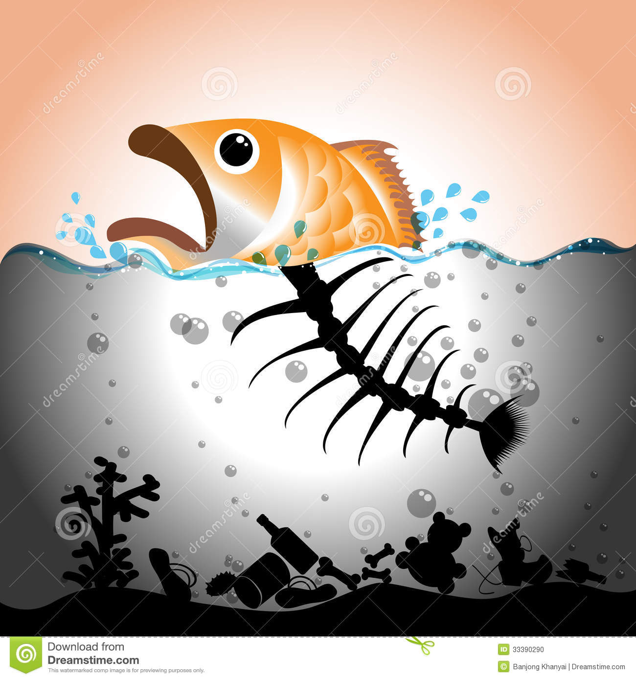 Water Pollution Concept Stock Photo - Image: 33390290