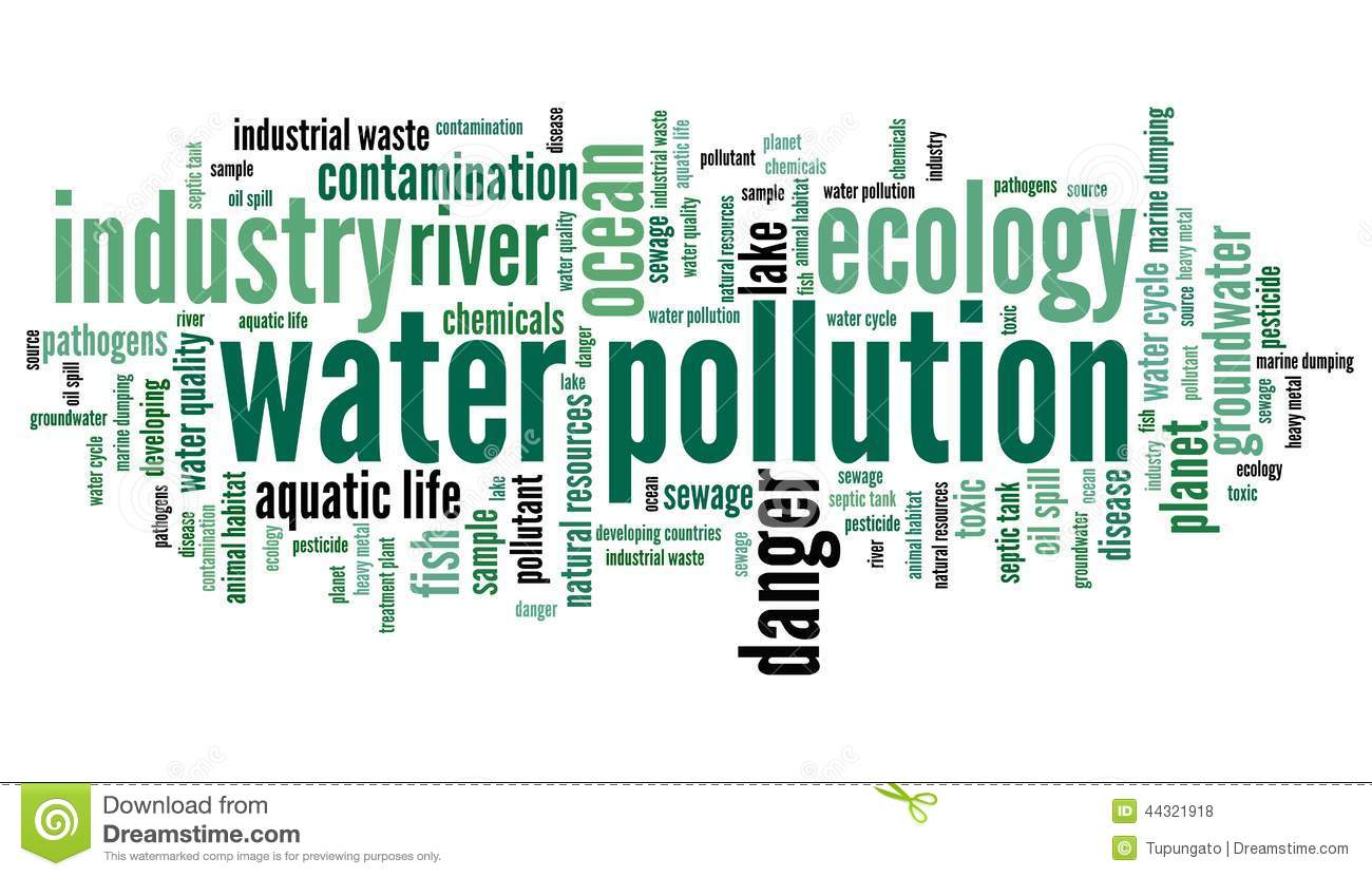 Water pollution - environment issues and concepts word cloud ...