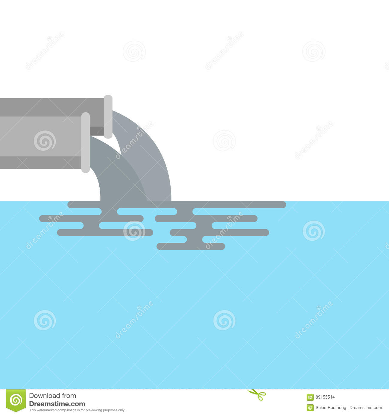 Water pollution from industry stock vector illustration of water pollution from industry biocorpaavc Choice Image