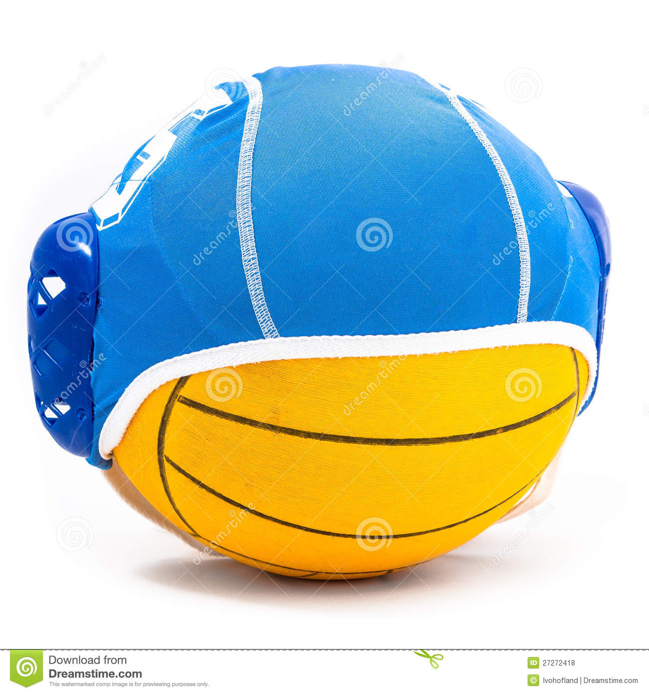 5d99bf975d2 Water polo ball and cap stock photo. Image of pattern - 27272418