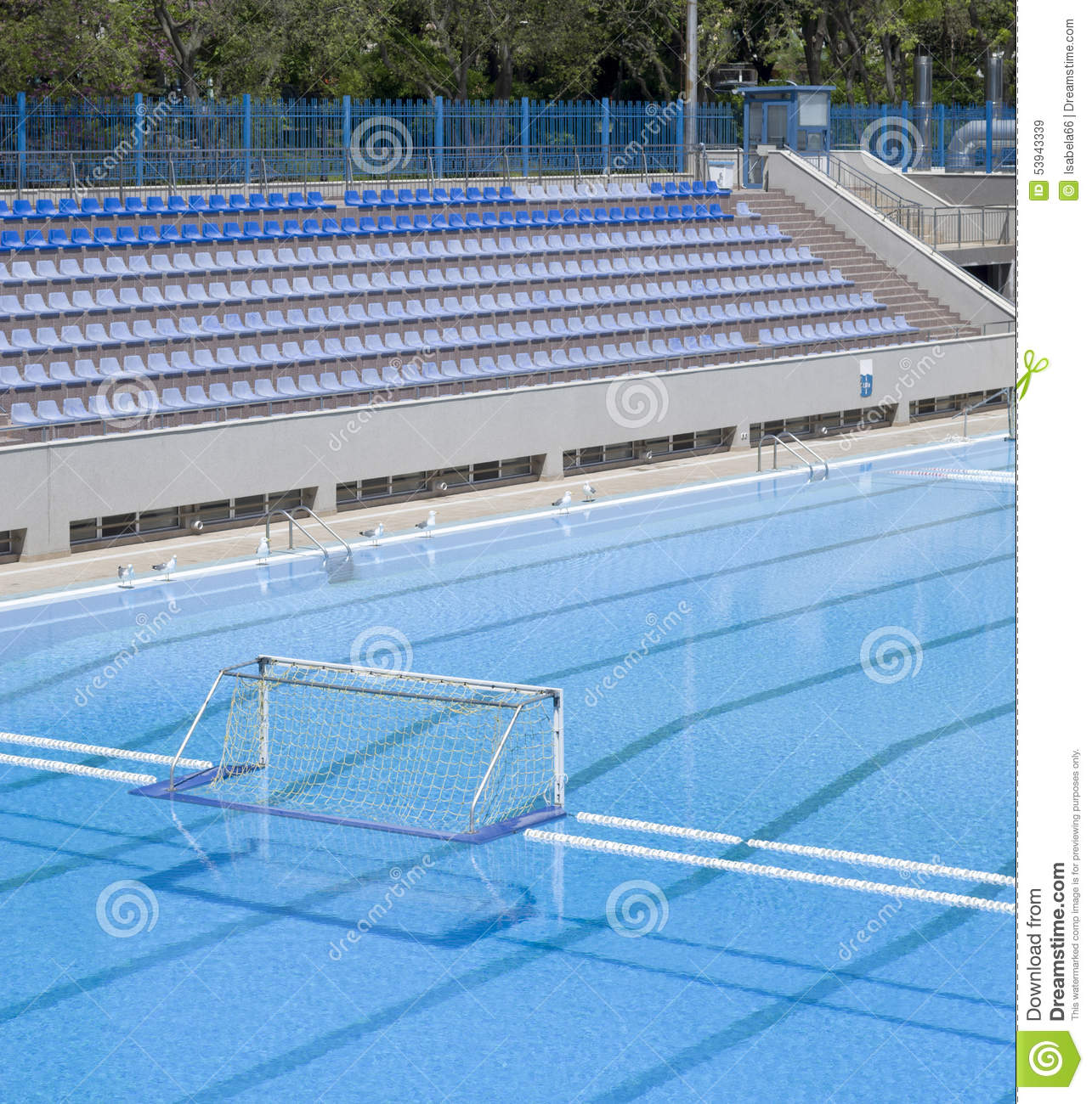 Water Polo Goal At The Outdoor Swimming Pool Stock Photo Image 53943339