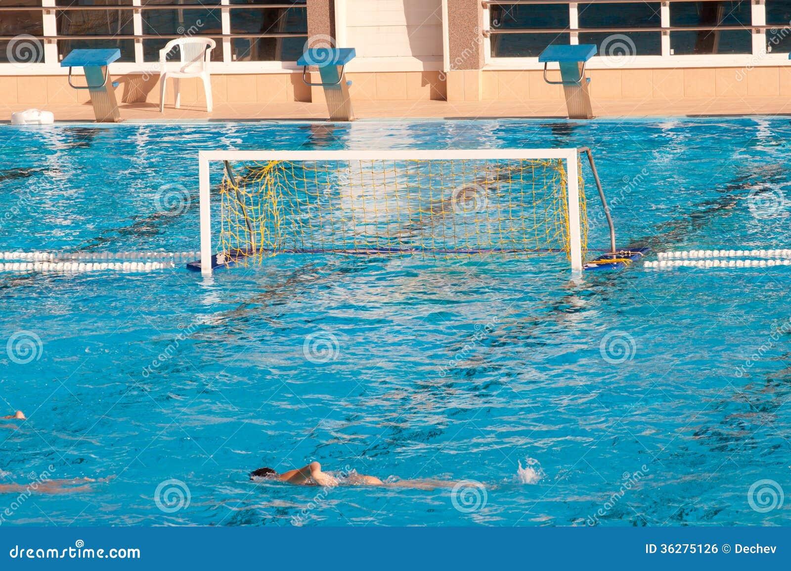 Water Polo Goal Stock Photo Image Of Empty Blue Aquatic
