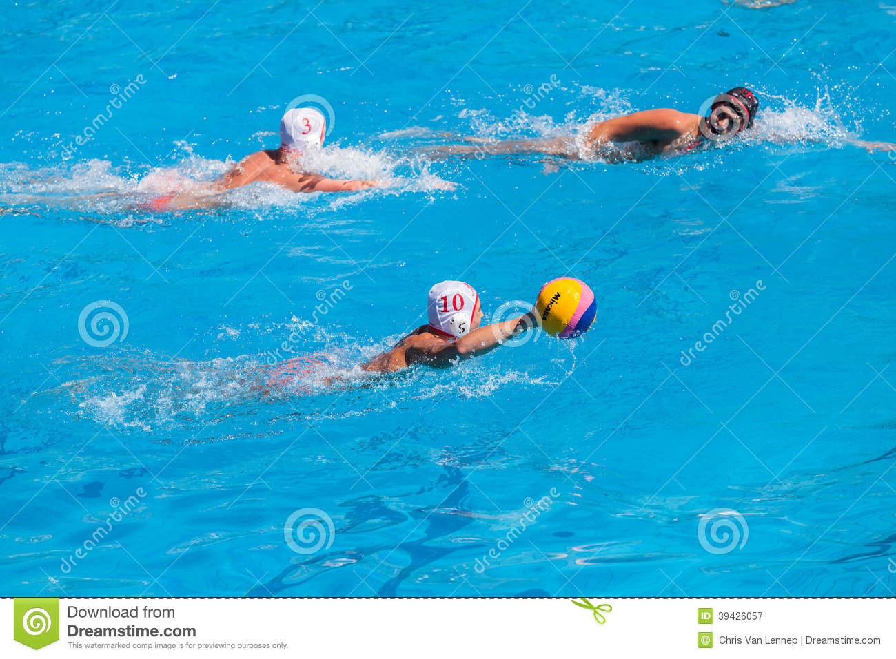 Swimming Pool Action : Water polo swimming pool action editorial photography