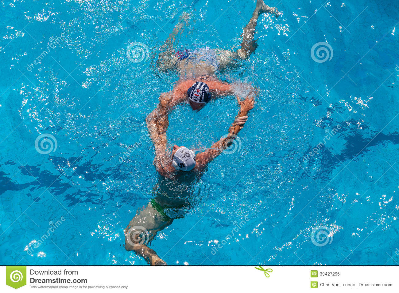Swimming Pool Action : Water polo swimming pool action editorial photo image