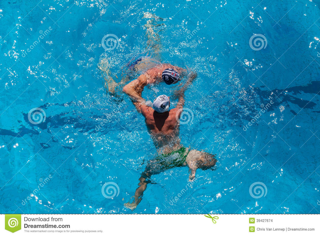 Swimming Pool Action : Water polo swimming pool action editorial stock image