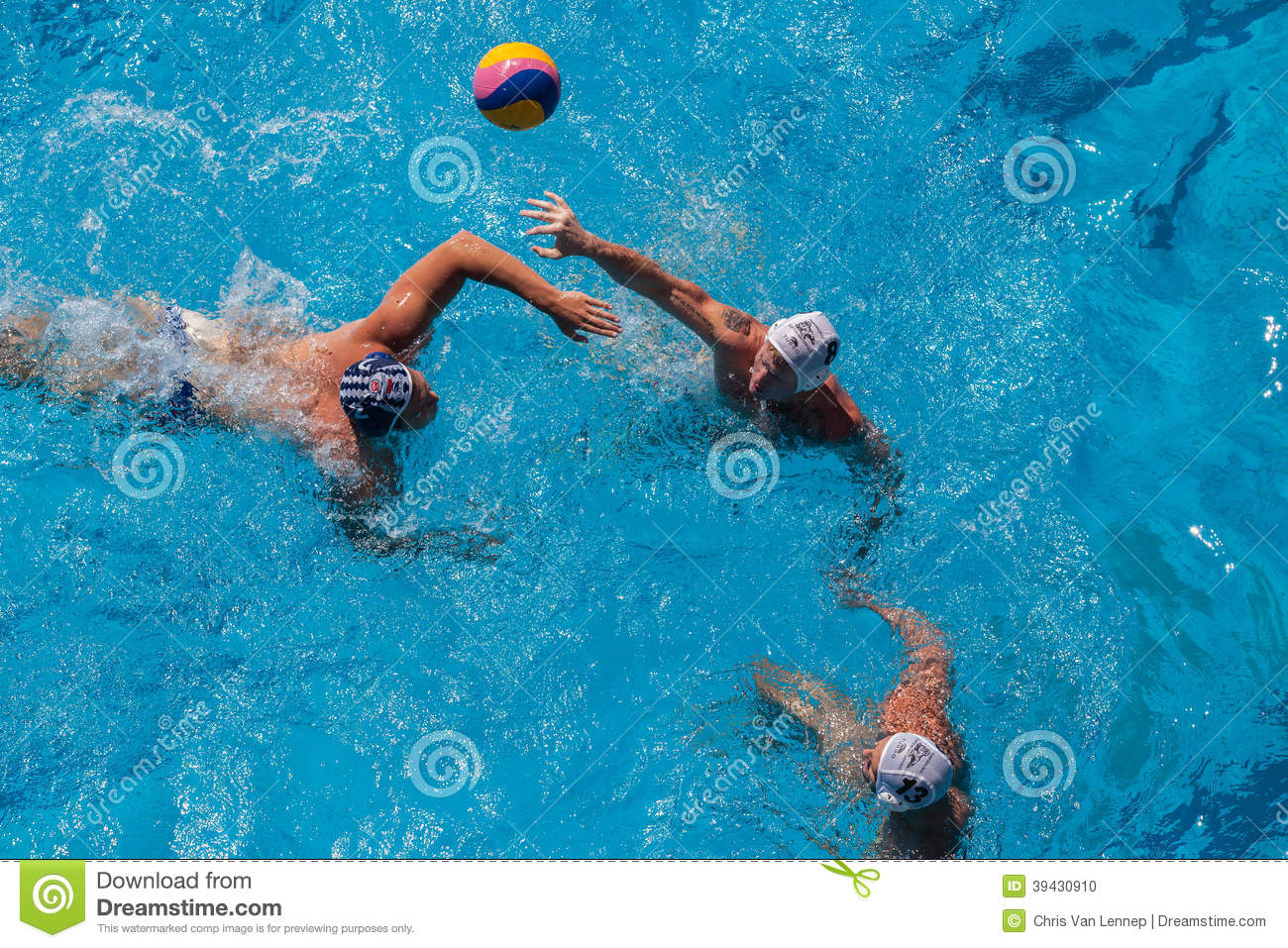 Swimming Pool Action : Water polo swimming pool action editorial image