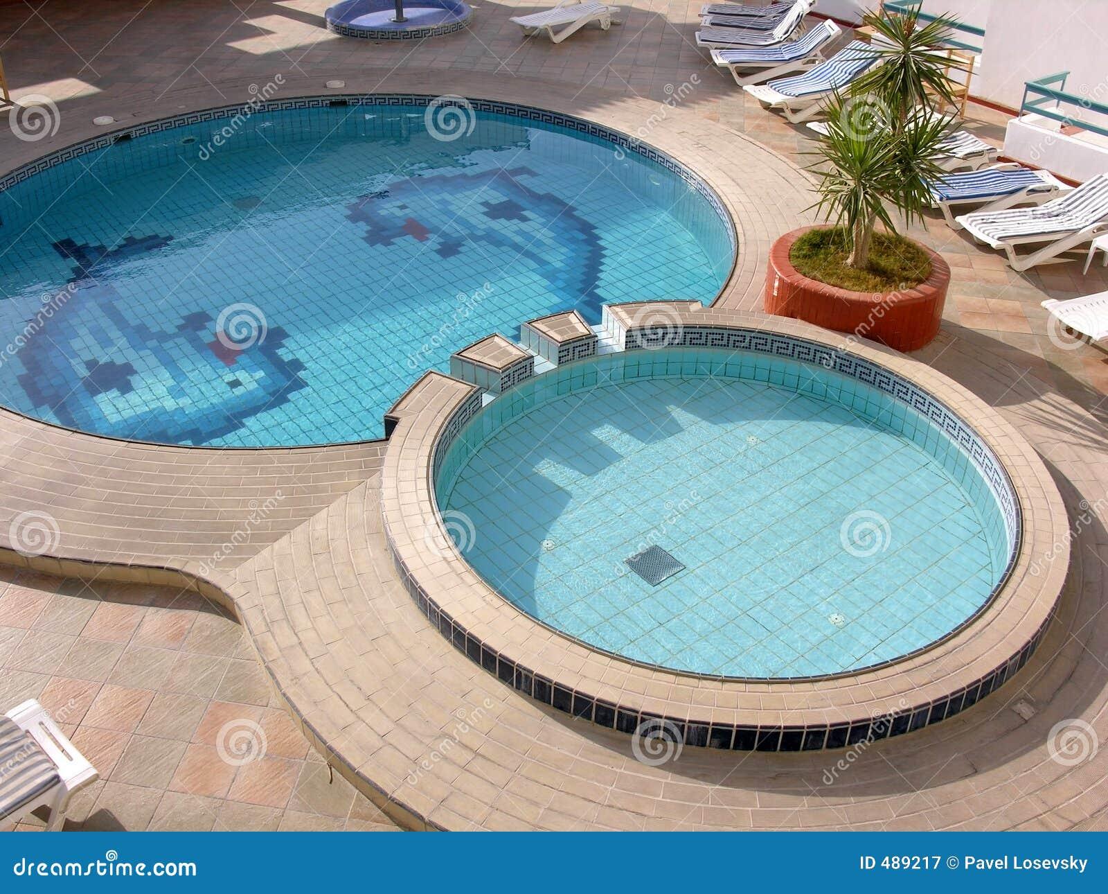 Water pool in hotel