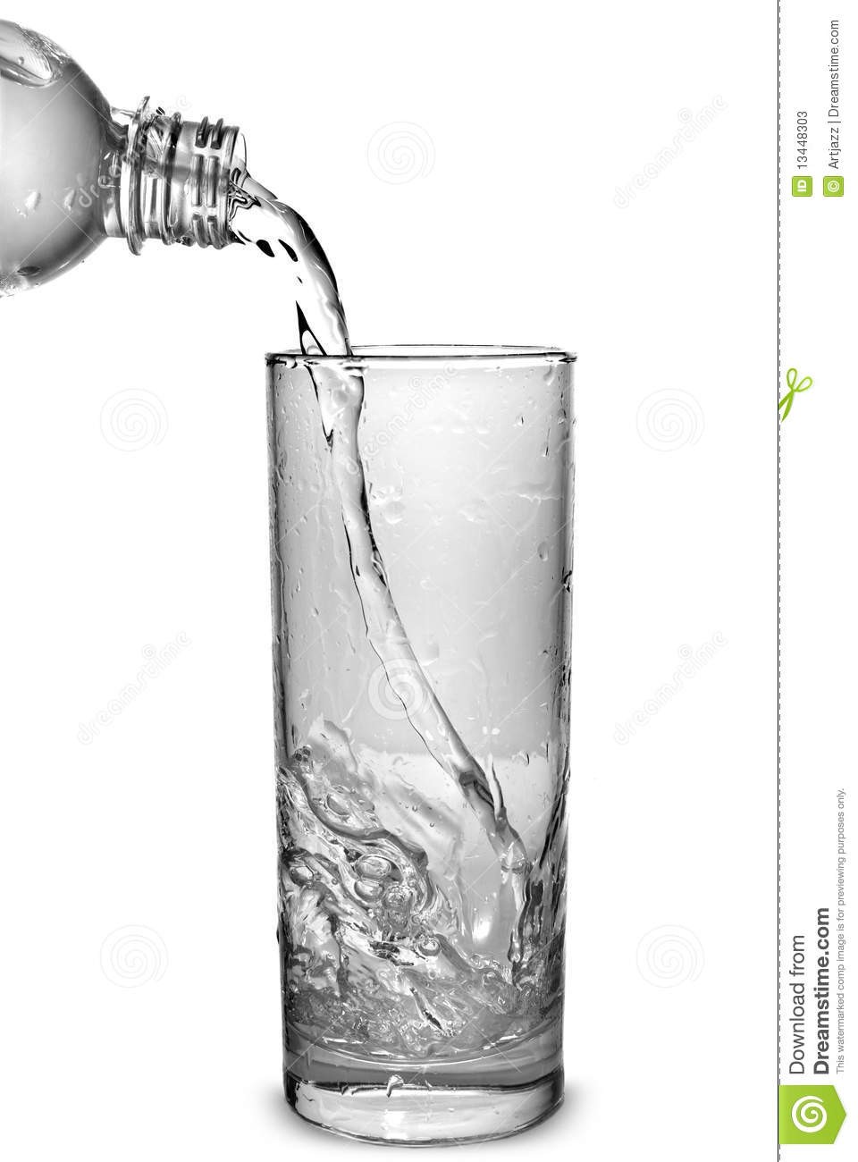 water pouring into glass stock image image of bubble 13448303
