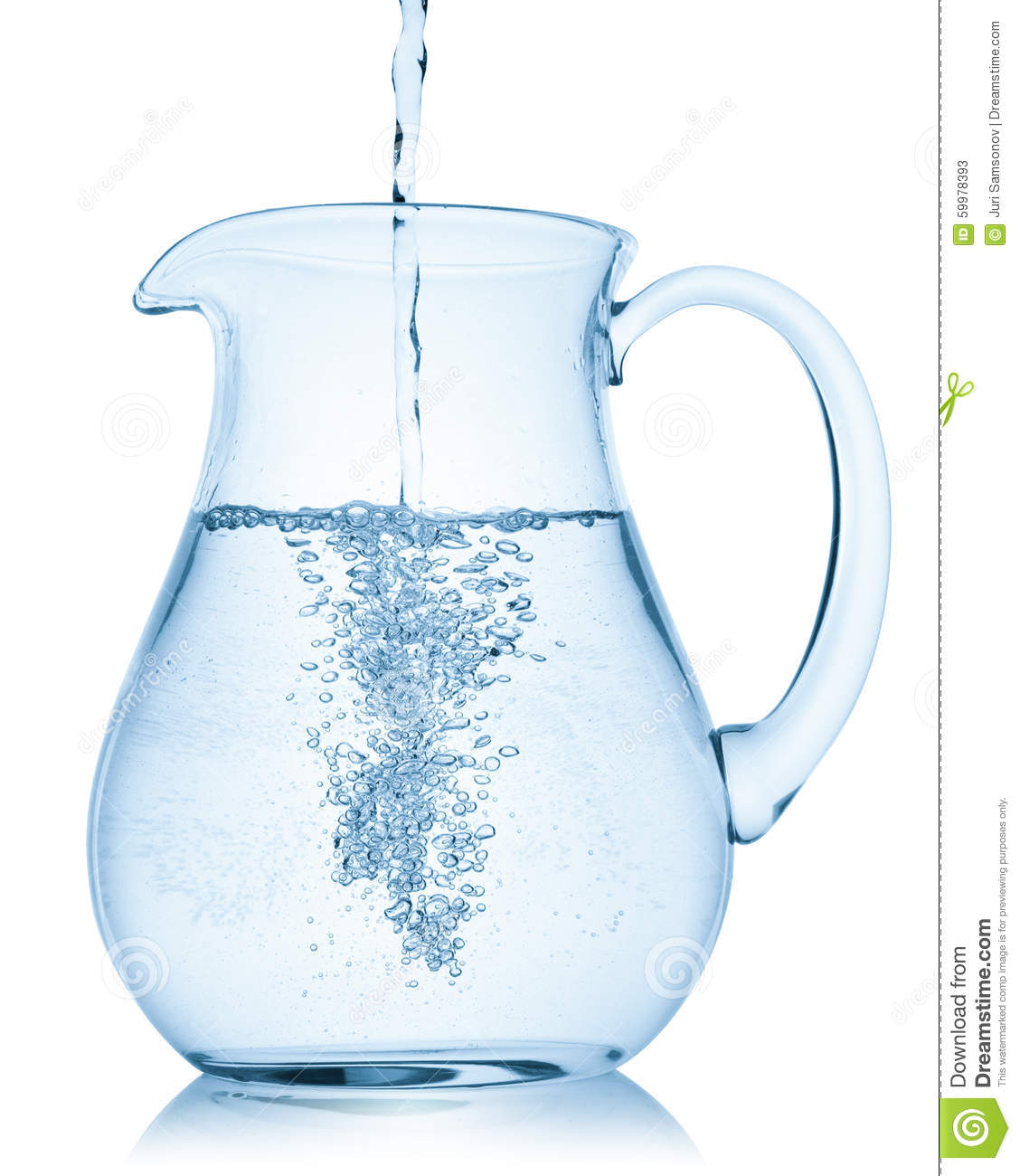 Water Pitcher Jar And Glasses Vector Illustration Vector
