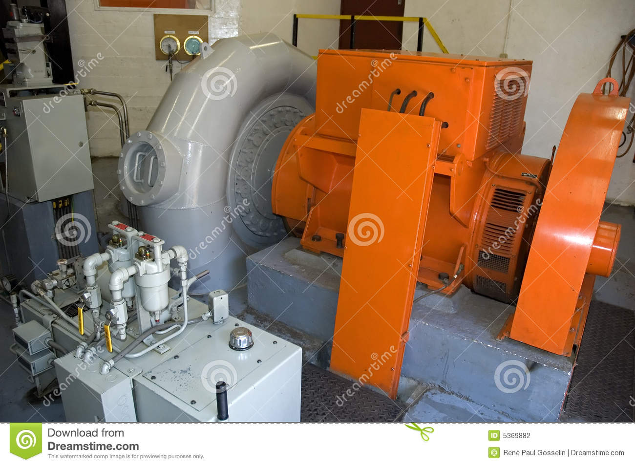 Stock Photography Water Powered Generator Image5369882 on electric generator map