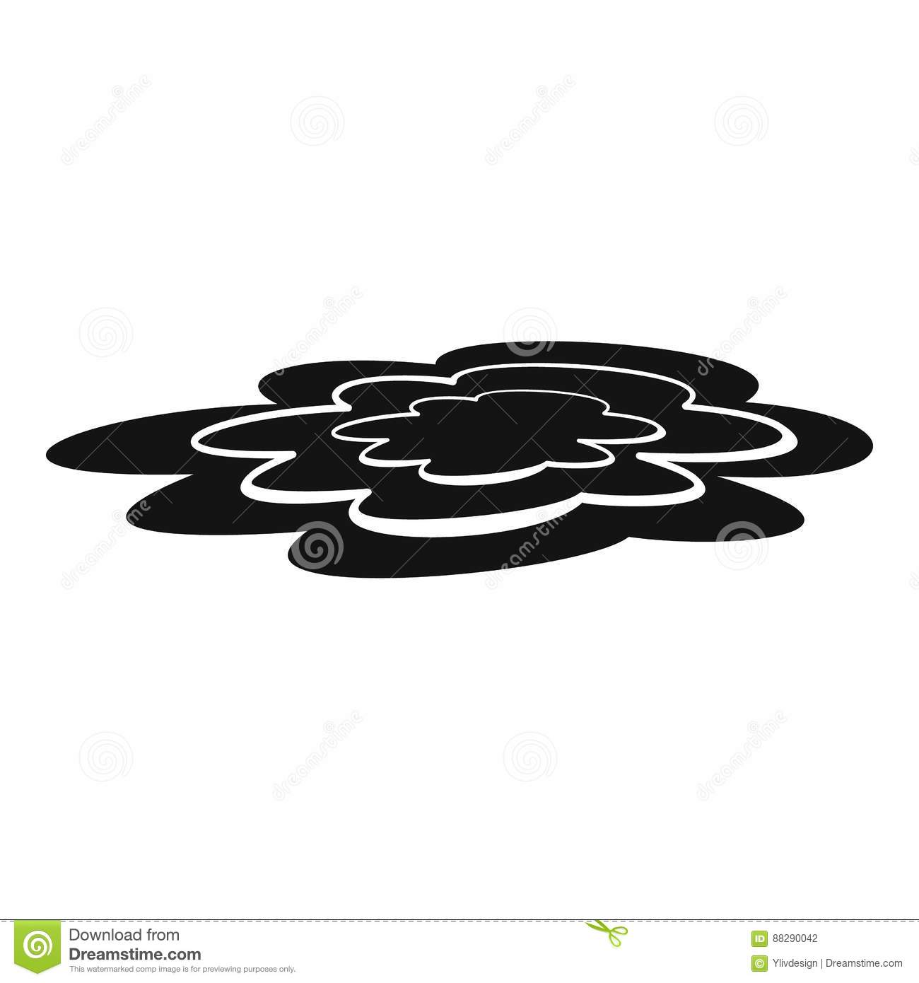 water puddle icon simple style stock vector image 88290042