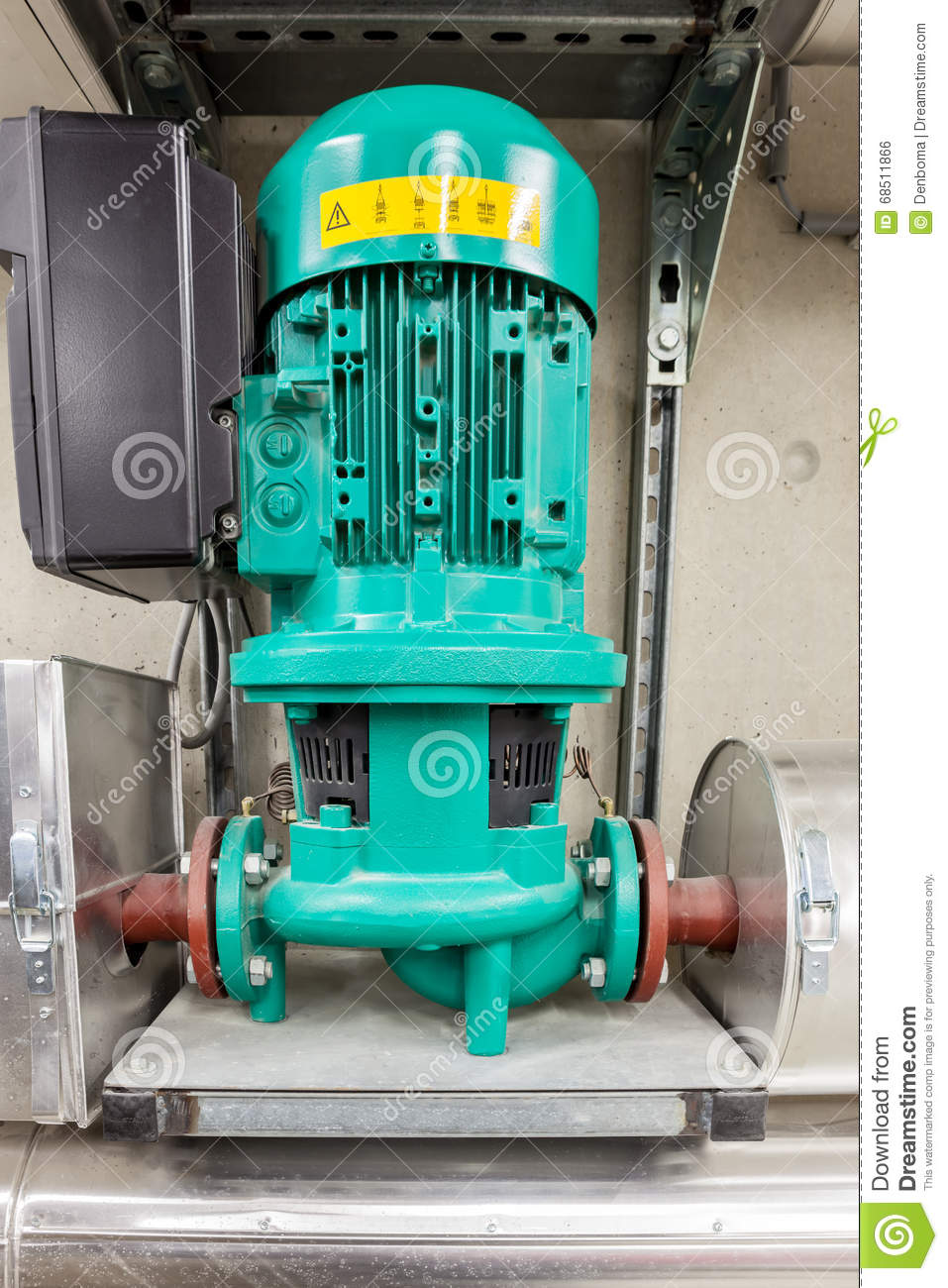 Water pump for hot water stock photo. Image of steel - 68511866