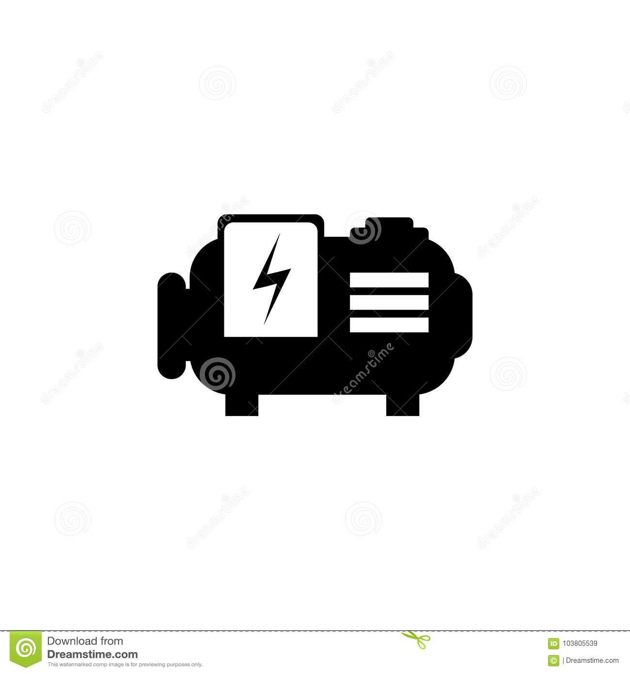 Symbol For Water Pump Franklin Electric Submersible Motor Control Wiring Diagram Icon Stock Vector Illustration Of Clean 103805539