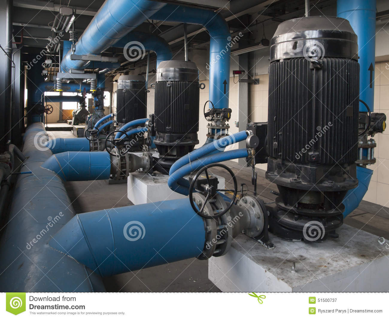Water Pump With Large Electric Motors Stock Photo Image