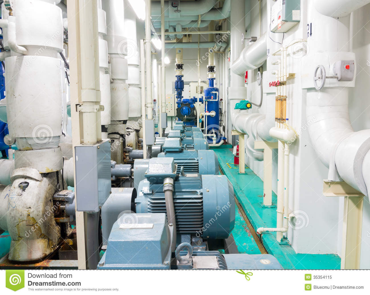 Water Pump Room Stock Image Image Of Utility Machine