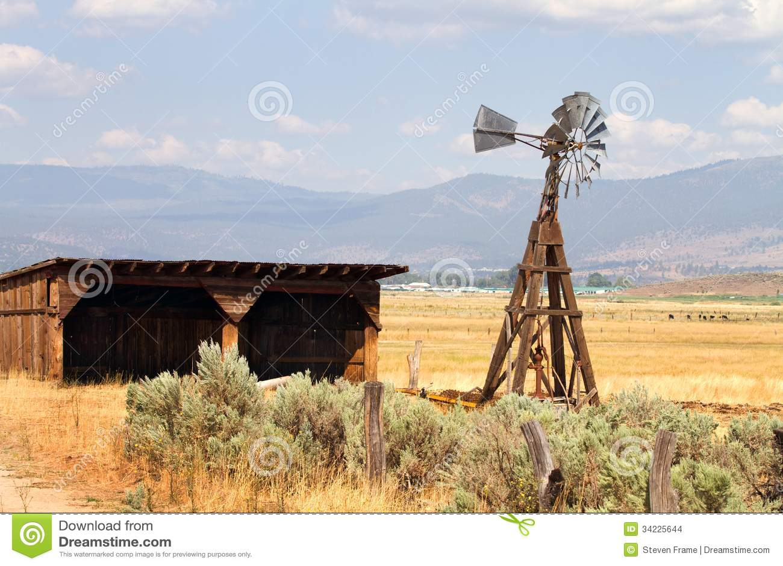 Water Pumping Windmill Stock Photo Image Of Irrigation