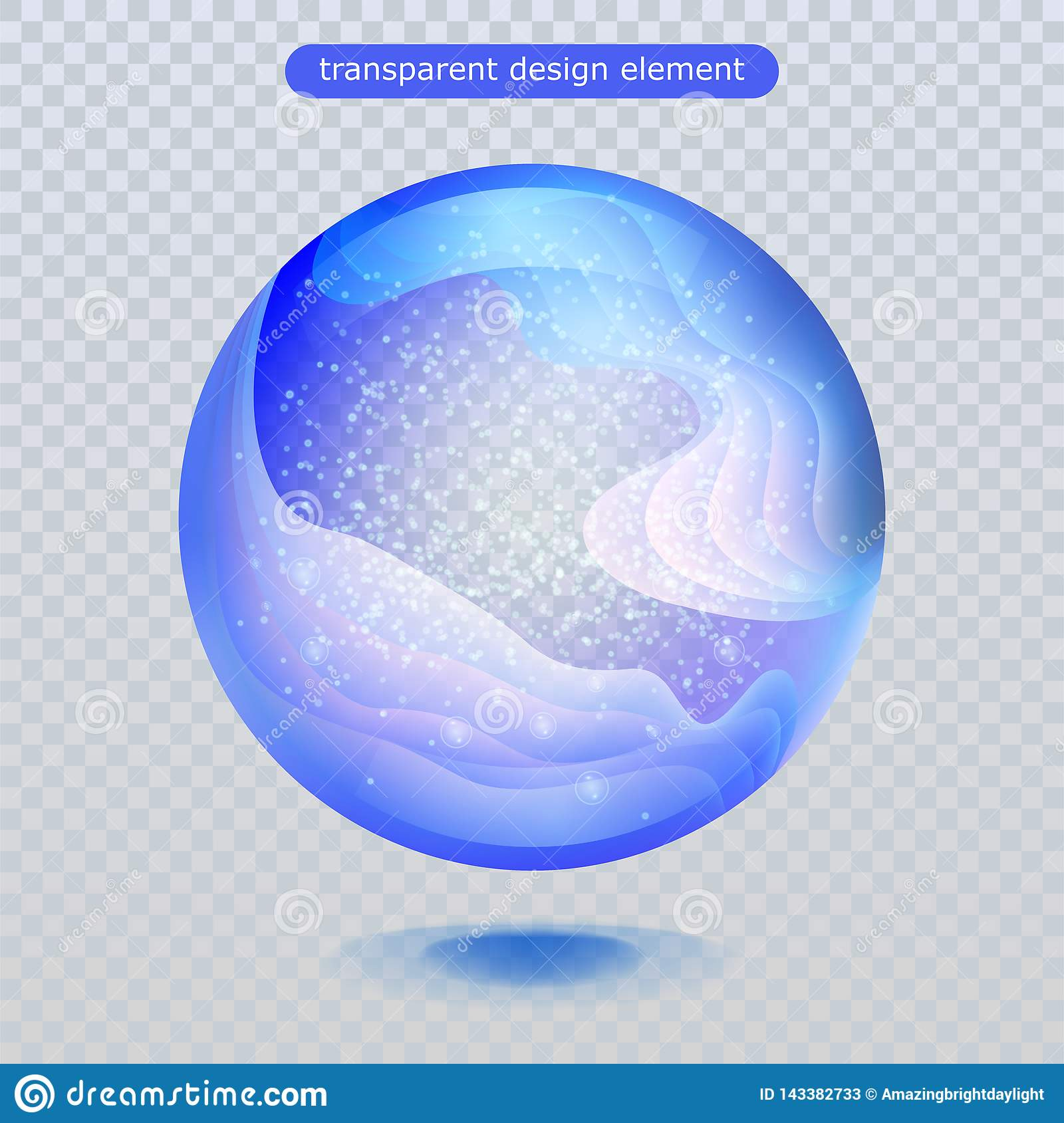 Water rain drop isolated on transparent background. Water bubble or glass surface ball for your design.