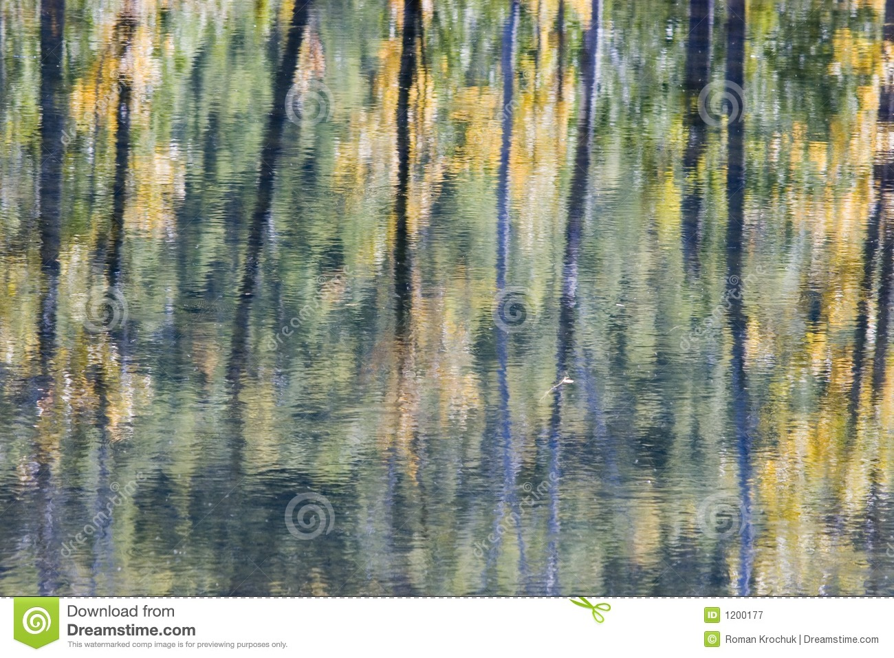 Water reflection abstract