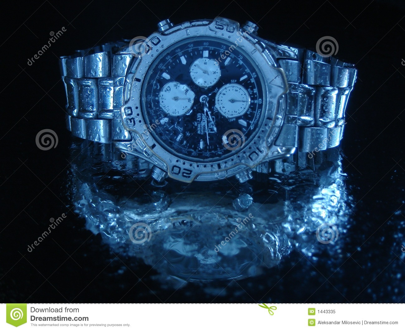 Water resistant watch stock image. Image of clock, diving ...