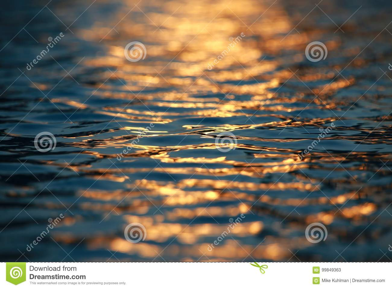 Water Ripples Sunset