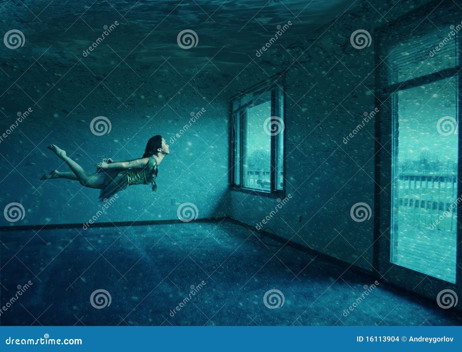 Water Room Stock Illustration Illustration Of Diver