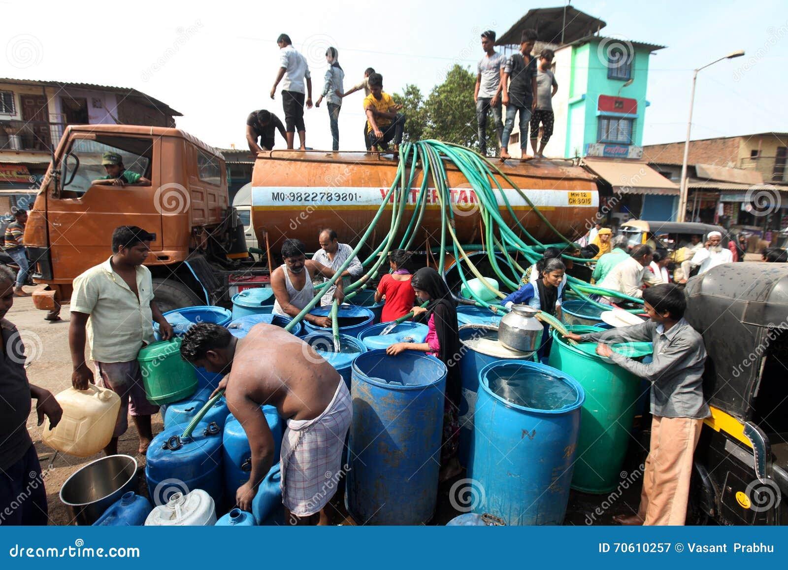 Water Scarcity editorial photography  Image of bhiwandi