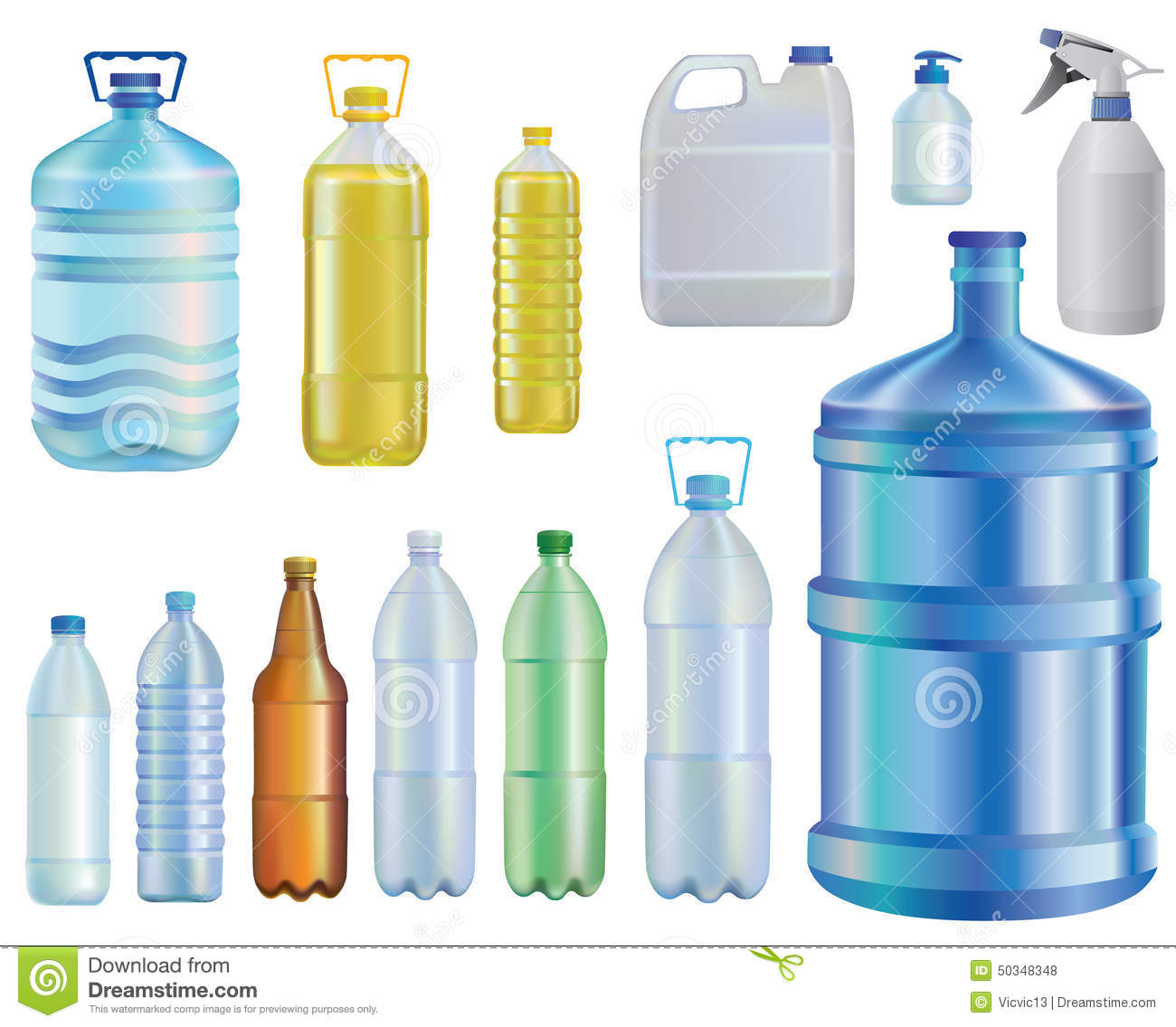 Water Set Of Different Bottles Oil A Liquid Capacity Soap