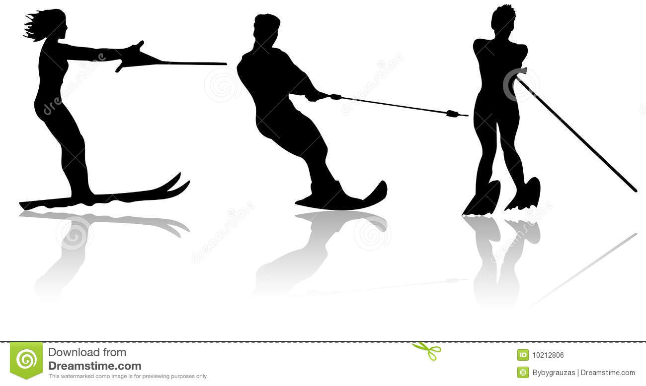 Water Skiers Royalty Free Stock Image - Image: 10212806
