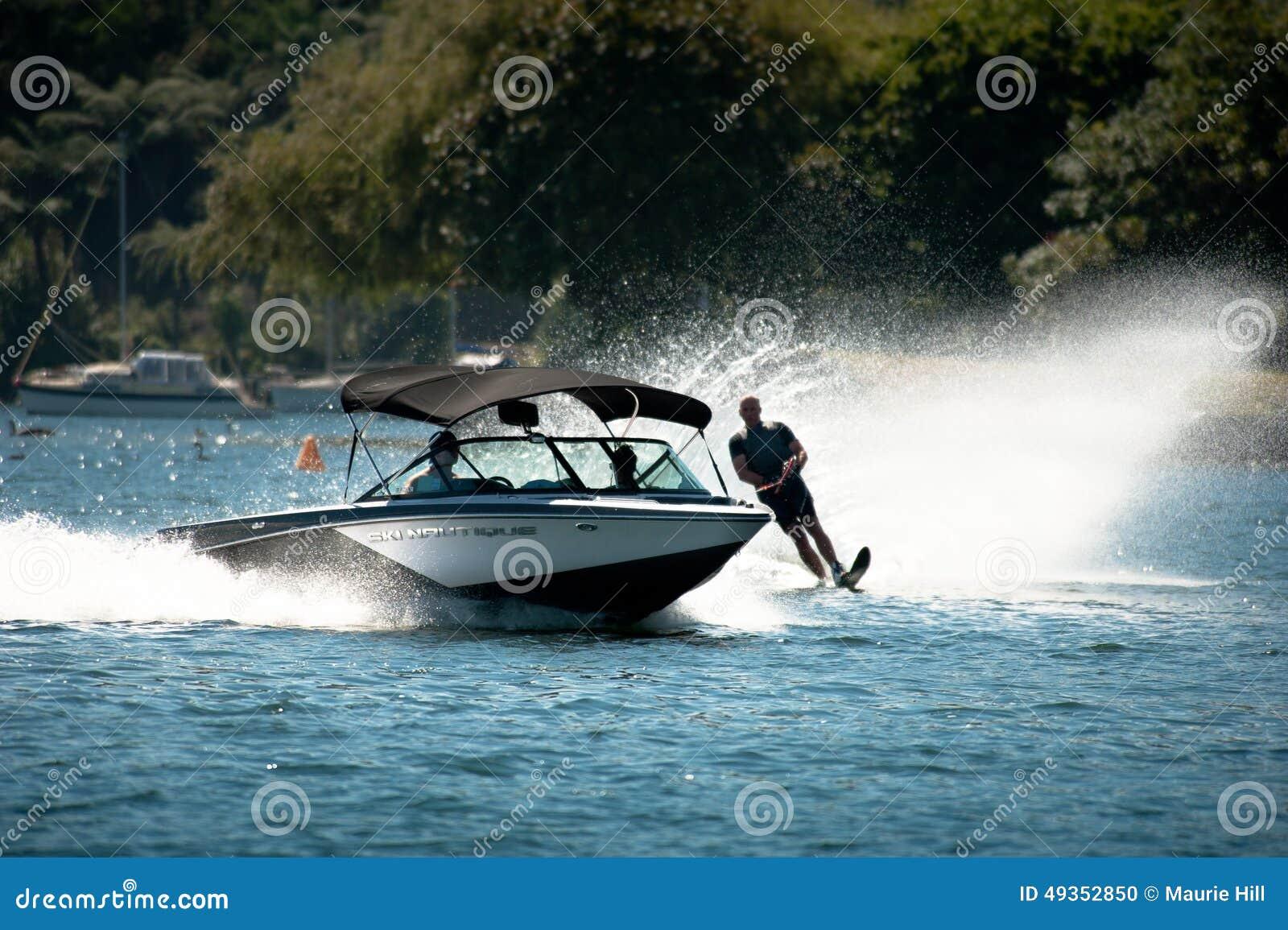 Water Skiing Slalom Action Editorial Image - Image: 49352850