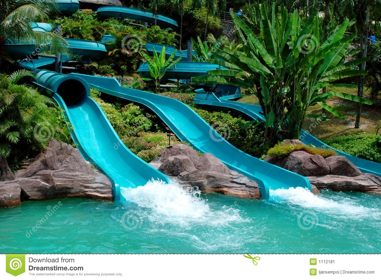 Water Slide Stock Image - Image: 1112181